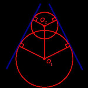 Общие касательные к двум окружностям