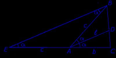 Биссектриса треугольника свойства формулы длины биссектрисы