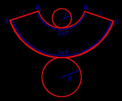 Как сделать развёртку усечённого конуса